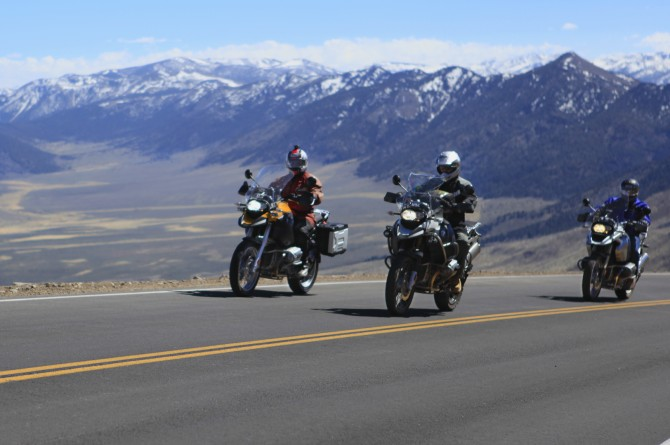 Adventure motorcycling near Carson Valley, Nevada