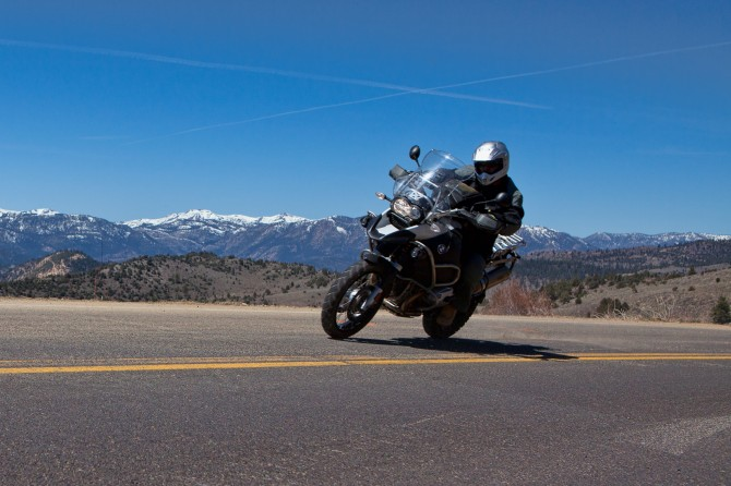 Motorcycle riding on Monitor Pass in the Sierra Nevada