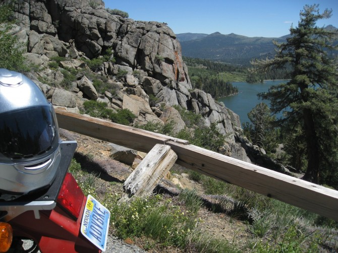 View of Red Lake from just off State Route 88, at Carson Pass. One of the best motorcycle routes in the Sierra Nevada.