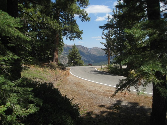 Ebbetts Pass, California State Route 4. A great motorcycle route over the Sierra Nevada