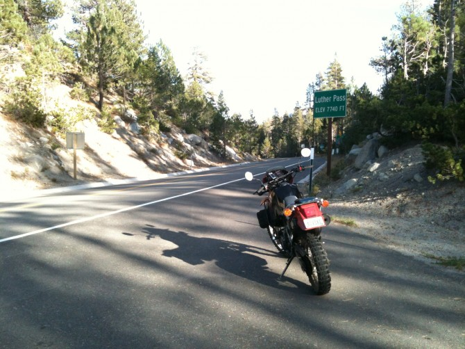 Luther Pass is a great way to avoid Lake Tahoe traffic congestion on a US 50 motorcycle route.