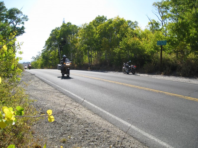 Early fall colors motorcycling on Monitor Pass