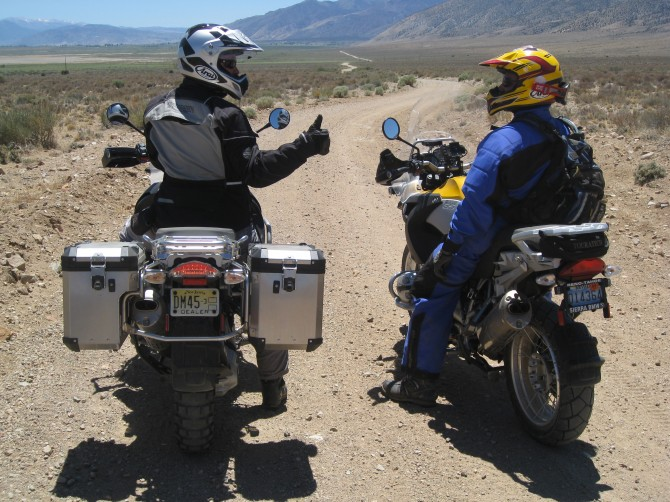 adventure motorcycling in the Nevada backcountry