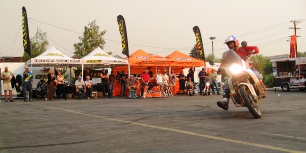 Jimmy Lewis demonstrates adventure motorcycle riding skills at Carson / Tahoe Moto