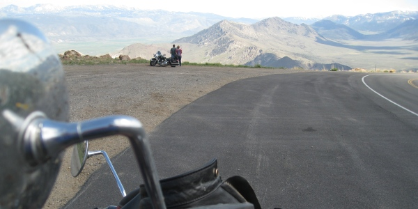 motorcycle ride rest stop on Monitor Pass